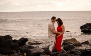 kauai engagement photographer in Poipu